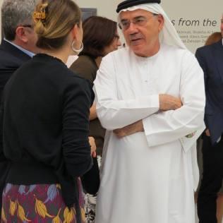 H.E. Zaki Nusseibeh, talking to Celine Cousteau