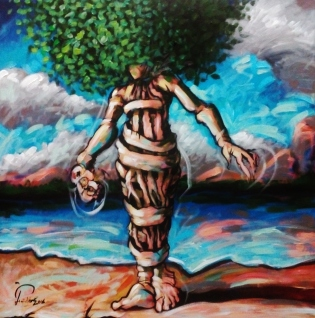 qarm2 2016 acrylics on canvas 70x70cm